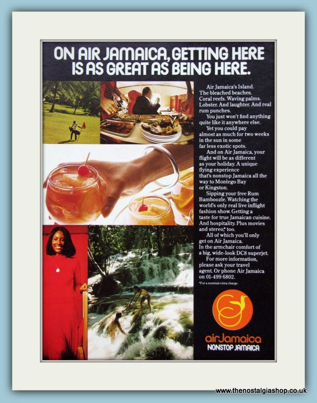 Air Jamaica Original Advert 1974 (ref AD2122)