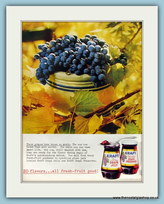 Kraft Jam Original Advert 1961 (ref AD8282)