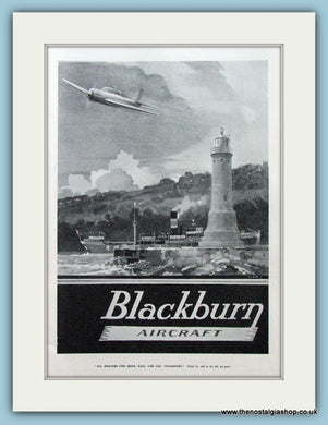 Blackburn Aircraft. Original Advert 1938 (ref AD4216)