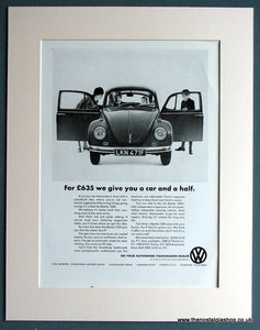 Volkswagen Beetle 1200 1968 Original Advert (ref AD1743)