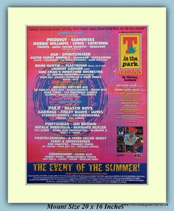 T In The Park Balado 1998 Original Advert (ref AD9030)