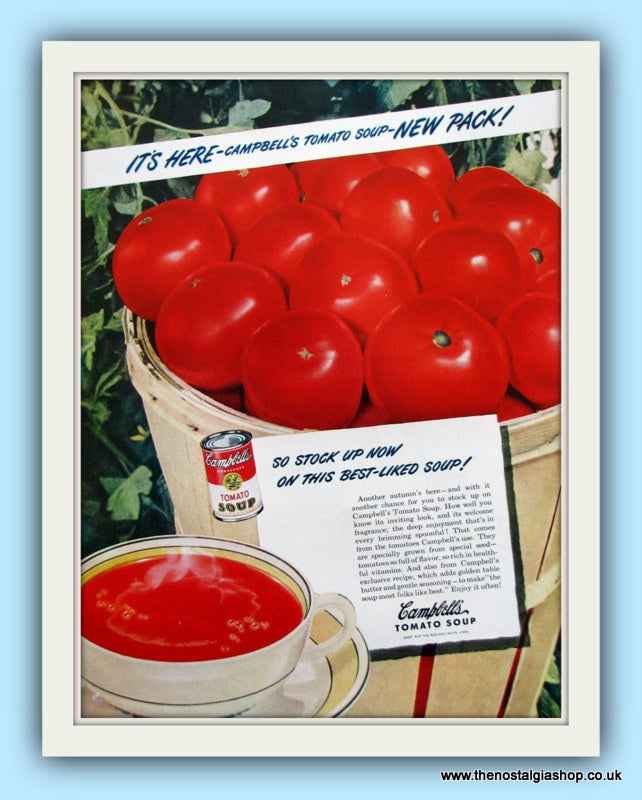 Campbell's Tomato Soup. Original Advert 1950s (ref AD8130)