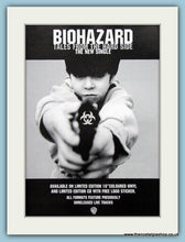 Load image into Gallery viewer, Biohazard State Of The World Address & Tales From The Hard Side 1994 Set Of 2 Original Music Adverts (ref AD3437)