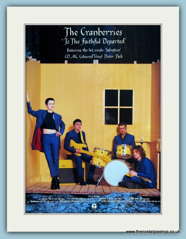 The Cranberries - To The Faithful Departed 1996 Original Advert (ref AD2917)