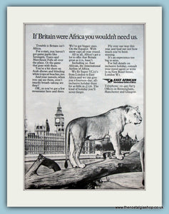 East African Airline Original Advert 1971 (ref AD2138)