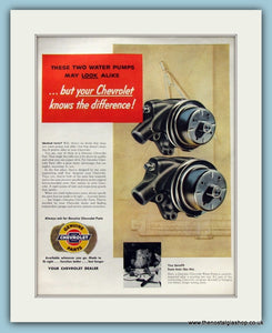 Chevrolet Water Pump Original Advert 1954 (ref AD8321)