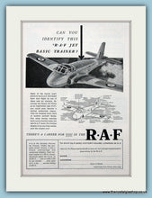 Load image into Gallery viewer, R.A.F Set Of 4 Original Adverts 1957 (ref AD6268)