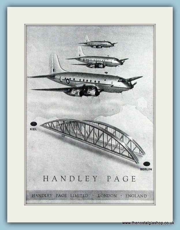 Handley Page Original Advert 1949 (ref AD4249)