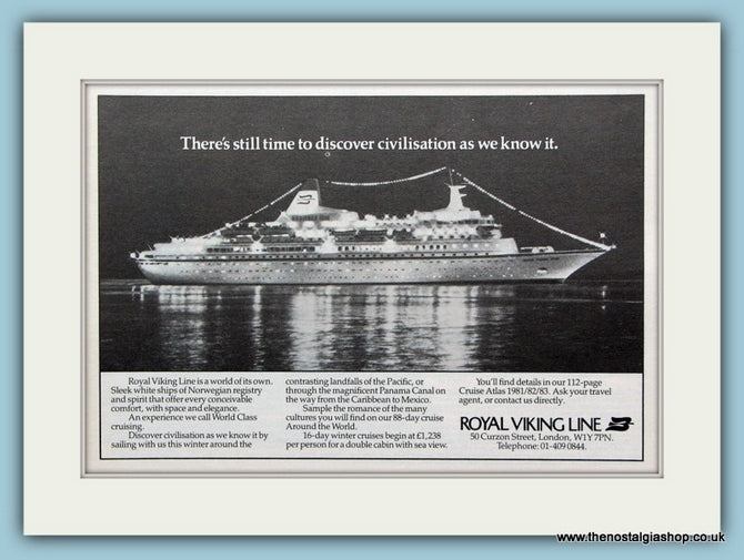 Royal Viking Line Original Advert 1981 (ref AD2272)