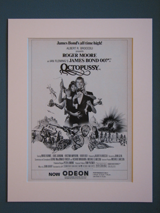 Octopussy, James Bond.  Original advert (ref AD407)