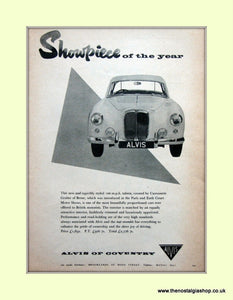 Alvis. Original Advert 1955 (ref AD6651)