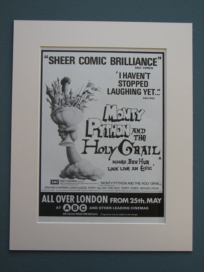 Monty Python And The Holy Grail 1975 Original advert (ref AD722)