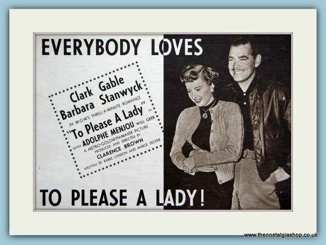 Everybody Loves To Please A Lady, 1951 Original Advert (ref AD3202)