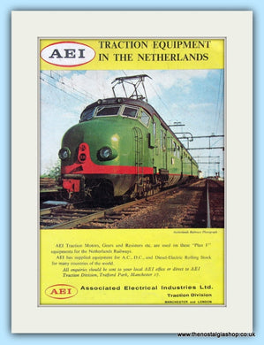 AEI Traction Equipment. Original Advert 1961 (ref AD6169)
