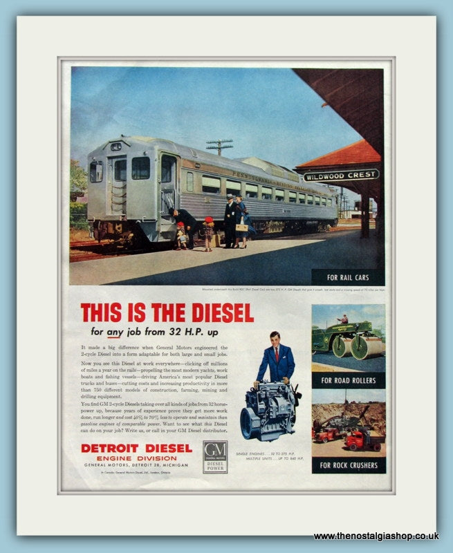Detroit Diesel Original Advert 1952 (ref AD8240)