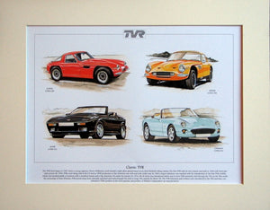TVR classics  Mounted print