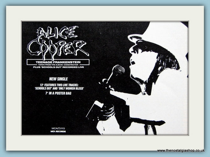 Alice Cooper, Teenage Frankenstein 1987 Original Advert (ref AD3141)