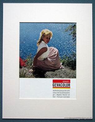 Gevacolor Film Set Of 2 Original Adverts 1963 (ref AD1085)