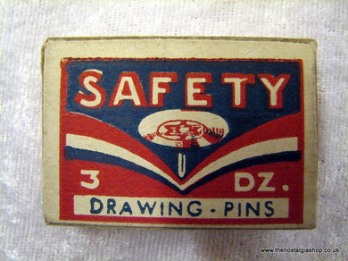 Drawing Pins in Box. Vintage, French. (ref nos060k)