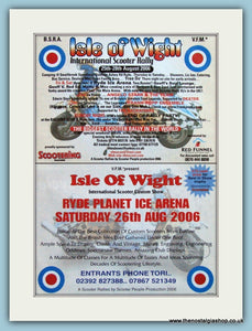 Isle Of Wight Scooter Rally 2 Separate Adverts 2006 Original Adverts (ref AD4663)