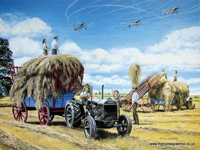 Fordson and Women's Land Army Print (ref N56)