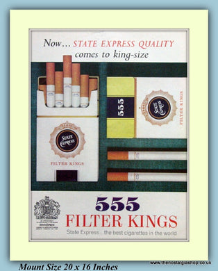 555 State Express Cigarettes Original Advert 1961 (ref AD9363)