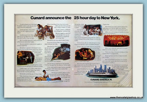 Cunard America Cruise Ship Original Advert 1974 (ref AD2340)