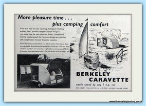 Berkeley Caravette Original Advert 1953 (ref AD6322)
