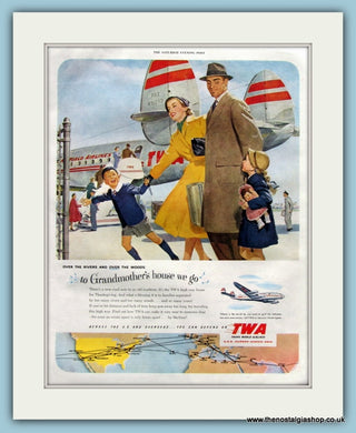 TWA Airlines Original Advert Original Advert 1951 (ref AD8250)