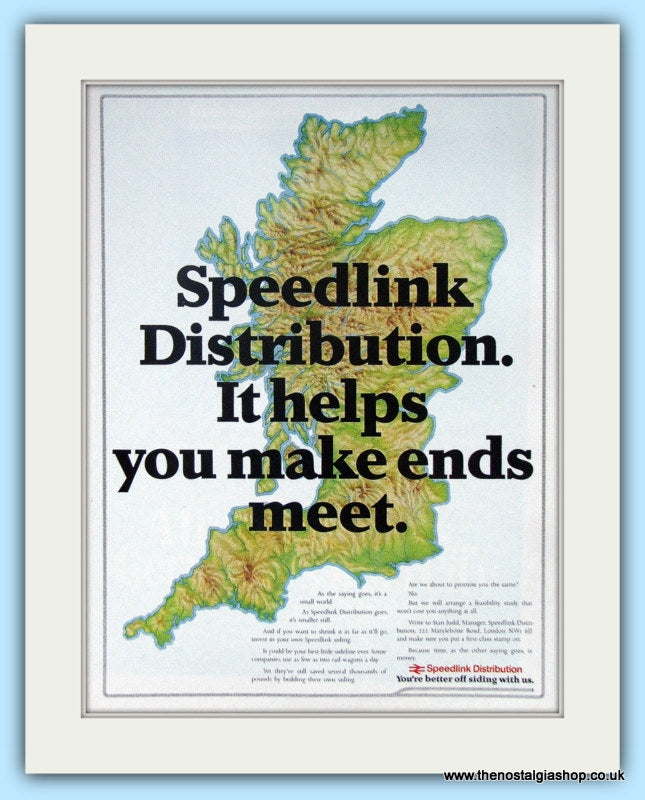 Speedlink Distribution Original Advert 1983 (ref AD6556)