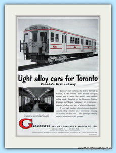 Gloucester Railway Carriage & Wagons Original Advert 1955 (ref AD6492)