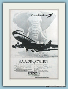 South African Airways Original Advert 1972 (ref AD2164)