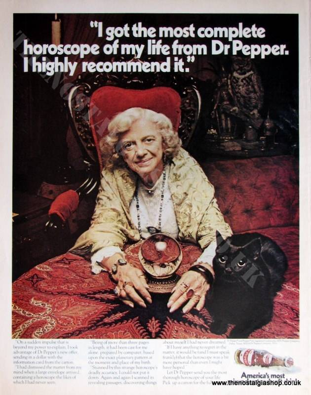 Dr Pepper. Original Advert 1970 (ref AD4026)