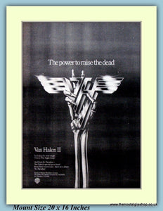 Van Halen ll The Power To Raise The Dead Original Advert 1979 (ref AD9314)