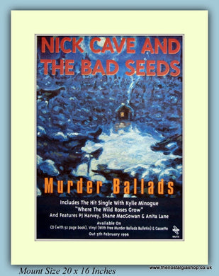 Nick Cave And The Bad Seeds Murder Ballads Original Advert 1996 (ref AD9163)