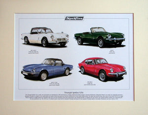 Triumph Spitfire / GT6  Mounted print