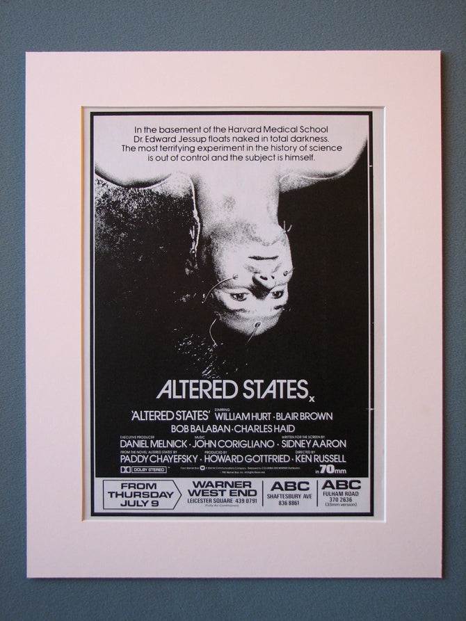 Altered States Original Advert (ref AD470)