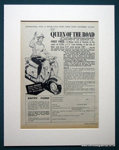 Queen of the road Contest. Win a Scooter. Original advert 1966 (ref AD1315)