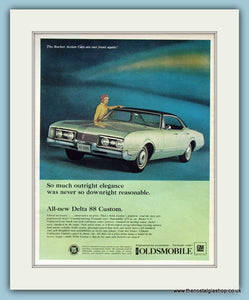 Oldsmobile Delta 88 Custom Original Advert 1967 (ref AD8213)