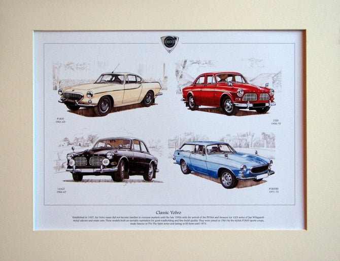Volvo  Classic cars  Mounted print