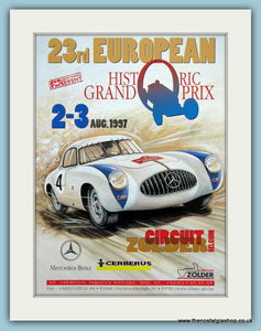 European Historic Grand Prix, Zolder Circuit 1997. Original Advert (ref AD2020)