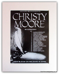 Christy Moore Tour Advert 1991 (ref AD1795)