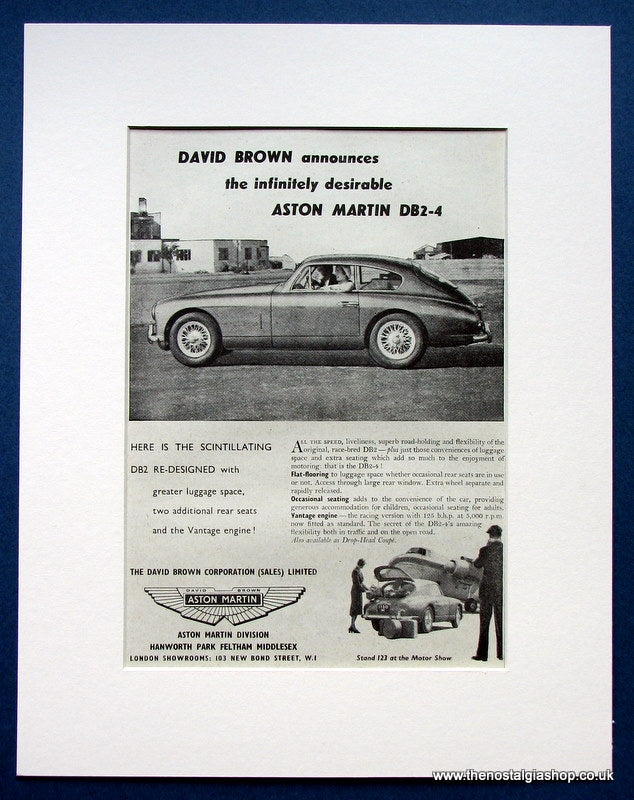 Aston Martin DB2-4 1953 Original Advert (ref AD1439)