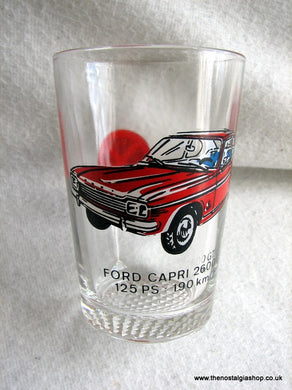 Ford Capri Mk I Drinking Glass 1970's. (ref Nos043)