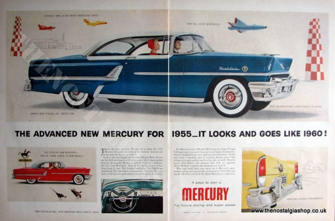 Ford Mercury Montclair. Original Advert 1955 (ref AD4059)