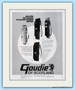 Goudie Golf Bags. Original Advert 1969 (ref AD4968)