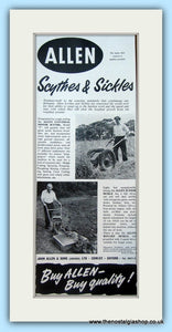 Allen Scythes & Sickles. Set of 2 Original Adverts 1960s (ref AD4656)