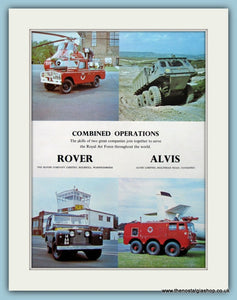Royal Air Force Rover & Alvis Original Advert 1966 (ref AD6291)