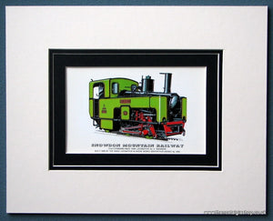 Snowdon Mountain Railway 'Snowdon' Mounted Print (ref SP81)