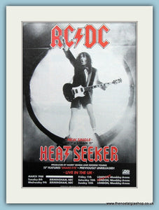AC DC Heat Seeker 1988 Original Advert (ref AD3114)